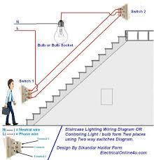 two way light switch diagram & staircase wiring diagram 2 way lighting wiring diagram two way light switch diagram & staircase wiring diagram