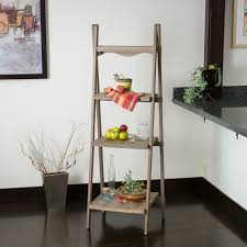Wooden Ladder Display Stand Contemporary Living Space w Wood Ladder Display Shelf 12