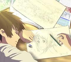 drawing ilration anime cartoon your name kimi no na wa sketch mangaka ic book