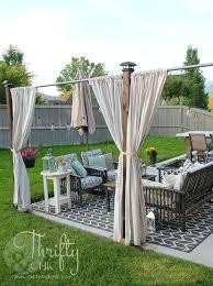 curtain outdoor gazebo curtains patio ideas deck privacy pergola