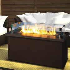 firegear key west 48 inch propane gas fire pit coffee table with bronze tabletop