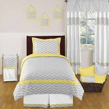 yellow and gray chevron zig zag childrens and kids bedding 4pc twin set by sweet jojo designs only 64 99