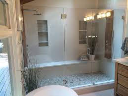 3 8 clear glass door hinged off glass with 2 panels