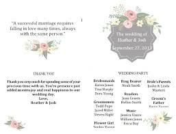 003 Template Ideas Free Downloadable Wedding Program