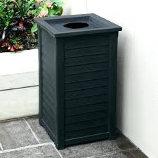 outdoor trash can with wheels commercial cans blow lids b at