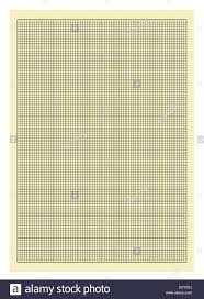 Yellow And Black Lined Graph Paper Isolated On White