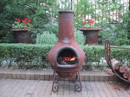 ceramic chimney fire pit small starter