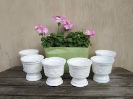 milkglass pedestal bowls footed white glass bowls milk glass wedding
