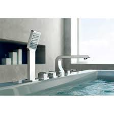 cbi oce chrome deck mount 5 hole roman tub shower faucet cl jdl 8852420
