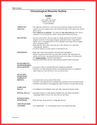 Good Resume Outline Pelosleclaire Com