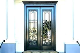 wrought iron glass doors faux door inserts cabinet sliding china french style glass door