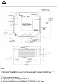 dimension one spas hot tub caliente general specifications caliente hp architectural specifications