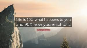 "Most Famous Quotes Amazing Positive Quotes ""Life Is 48% What Happens To You And 48% How You"