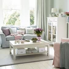 Shabby Chic Living Room   Table And Cabinet