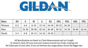 Gildan 6 1 Oz Long Sleeve Size Chart Gildan Ultra Cotton Size Chart Youth Best Picture Of Chart
