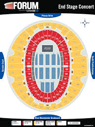 La Forum Seating Chart Concert The Forum Seat Map