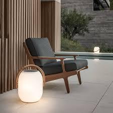 gloster outdoor furniture. Der Gloster - Bay Lounge Chair Mit Cocoon Solarleuchte. Outdoor Furniture