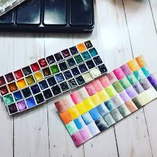 Watercolor Palette Chart Inky Fairy Designs My New Daniel Smith Watercolors Palette