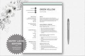Resume Template Entry Level Career Starter Pack