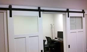 Diy Barn Door Track Interior Barn Doors With Glass