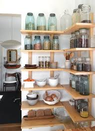 open kitchen corner shelving will look not bulky and accomodate everything you need