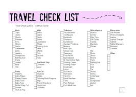 Packing List For Vacation Template Vacation Packing List Optional Pack Template Word 1 Publish