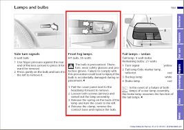 how to change my fog light e39 we will follow and expand upon the instructions for replacing the fog lamps from the owner s manual this is the relevant page in the manual for a 2000 e39
