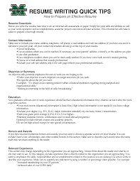 Tips Effective Resume Writing A Cover Interest Effective Resume