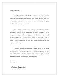 Cover Letter For English Teacher Application Instructor Cover Letter