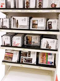 bottom of the e l f holiday 2016 collection end cap display at target