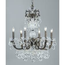 vienna palace 6 light crystal chandelier finish english bronze gold