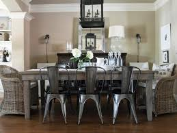 dining room decor french country ethan allen fortable plush back and seat modern white leather chairs dark brown rustic