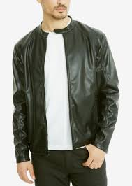 kenneth cole reaction men s rocco faux leather er jacket