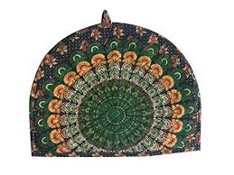 Indian Cotton Peacock Feather Printed Abstract ... - Amazon.com