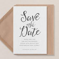 Save The Date No Photo Calligraphy Letterpress Save The Date
