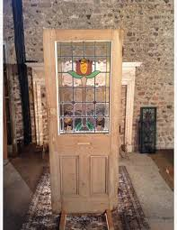 half glazed cottage victorian door with leaded glass