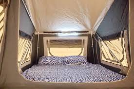 forward folding off road camper trailer queen size bed