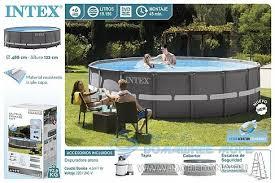 <b>Каркасный бассейн INTEX</b> Ultra Frame XTR (круг) 4.88 х 1 22 м ...