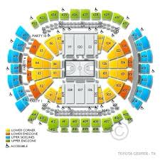Toyota Center Seating Chart Center Seating Map 1 2 House