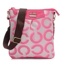 Coach Swingpack In Signature Medium Pink Crossbody Bags CEW Outlet Online