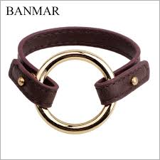 banmar punk gothic new women simple cuff leather bracelet girls crystal wrap punk bangle rhinestone bracelet jewelry gift party