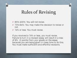 revising your dynamic character essay rules of revising o %  rules of revising o 85% 100% you will not revise