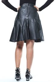 madonna co leather flared skirt side cropped image