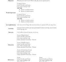 Free Printable Fill In The Blank Resume Templates Fine Free Printable Fill In The Blank Resume Templates Pictures 38