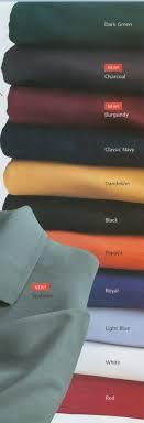 Port Authority Color Chart Team Golf Gear Port Authority Mens Rapid Dry Color Chart