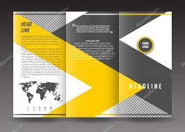 Corporate Tri Fold Brochure Template Design With World Map