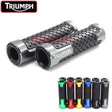 <b>7/8</b>'' <b>22mm</b> Motorcycle Handlebar Grip <b>CNC Aluminum</b> For Triumph ...