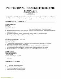 Housekeeping Resume Templates Best of Lovely Housekeeping Resume Resume Template From Housekeeping Resume