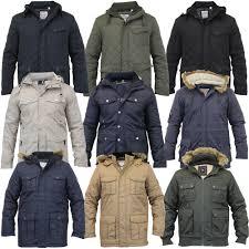 Mens Parka Style Jacket Soul Star Coat Padded Quilted Hooded Faux ... & Mens-Parka-Style-Jacket-Soul-Star-Coat-Padded- Adamdwight.com