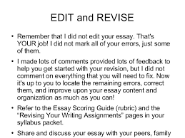 how to revise an essay co how to revise an essay